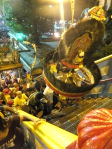 Kavadi going up the steps